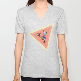 Behind every great man there are women to keep him balanced Unisex V-Neck