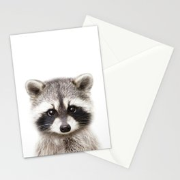 Baby Raccoon, Baby Animals Art Print By Synplus Stationery Cards