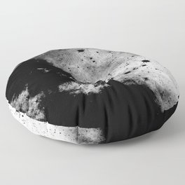 War - Abstract Black And White Floor Pillow