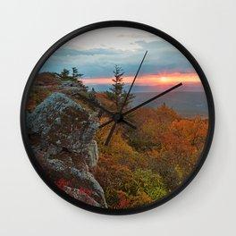 Autumn Dolly Sods Sunrise Wall Clock