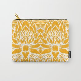 Golden Yellow Lotus Carry-All Pouch
