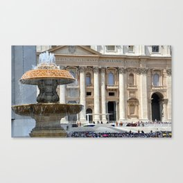 The day the Pope spoke Canvas Print