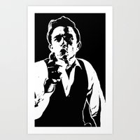 johnny cash Art Prints featuring Johnny Cash by ACHE