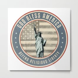 Defend Religious Liberty Metal Print