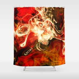 Red smoke background Shower Curtain