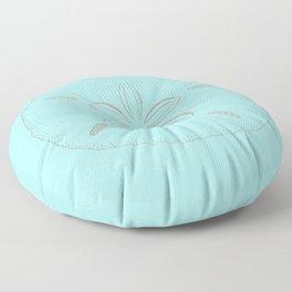Sand Dollar Dreams - Teal  Floor Pillow