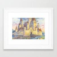 castle Framed Art Prints featuring Castle by Kasheva