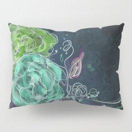 Midnight Dreams - Floral Art Pillow Sham