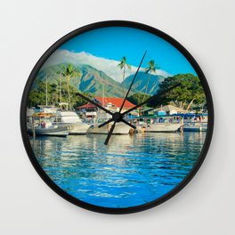 Lāhainā Marina Sunset Maui Hawaii Wall Clock