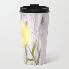 Yellow Tulips in Grey Travel Mug
