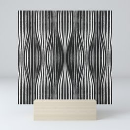 Abstract Flow Metal 3D Sculptural Art Mini Art Print