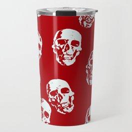 Hot Skulls, red white Travel Mug