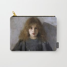 Boznańska-Girl with chrysanthemums Carry-All Pouch