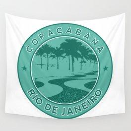 Copacabana beach, green circle, Rio de Janeiro, Brazil Wall Tapestry