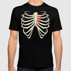 Skeleton Black Mens Fitted Tee SMALL