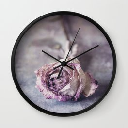 Dried Rose Wall Clock