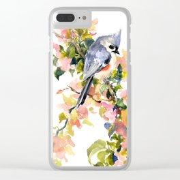 Bird and Spring Clear iPhone Case