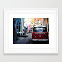 vw Framed Art Prints featuring Vw T1 by Nechifor Ionut