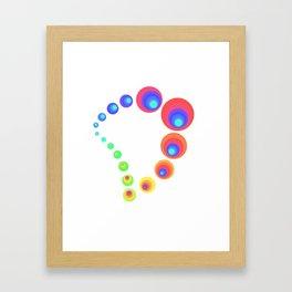 Spiral White Framed Art Print