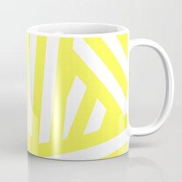 Diagonal yellow and white stripes Coffee Mug