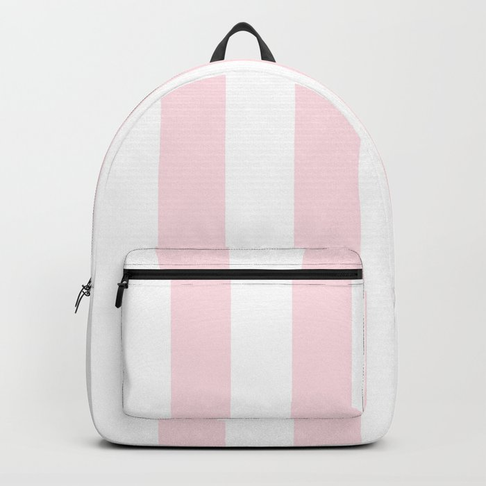 Simply Vertical Stripes Flamingo Pink on White Backpack