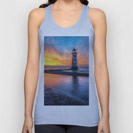 Lighthouse Sunset  Unisex Tank Top