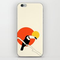 toucan iPhone & iPod Skins featuring Toucan by Rebekhaart