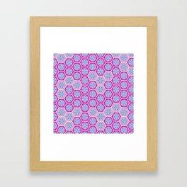 Hexagonal Dreams - Pink & Purple Framed Art Print