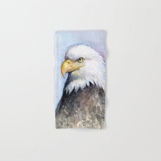 Bald Eagle Watercolor Hand & Bath Towel