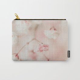 Pink Linen Gypsophila Carry-All Pouch