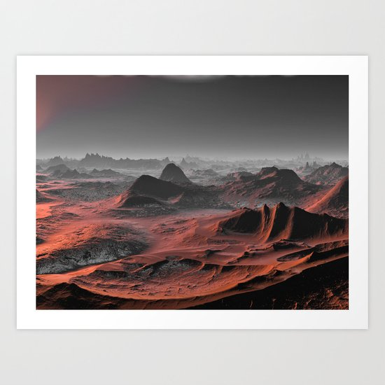 Visiting other planets 9 Art Print