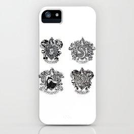 Hogwart House Crests iPhone Case