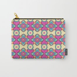 Lily Pulitzer Inspired Spanish Tiles Pattern Carry-All Pouch