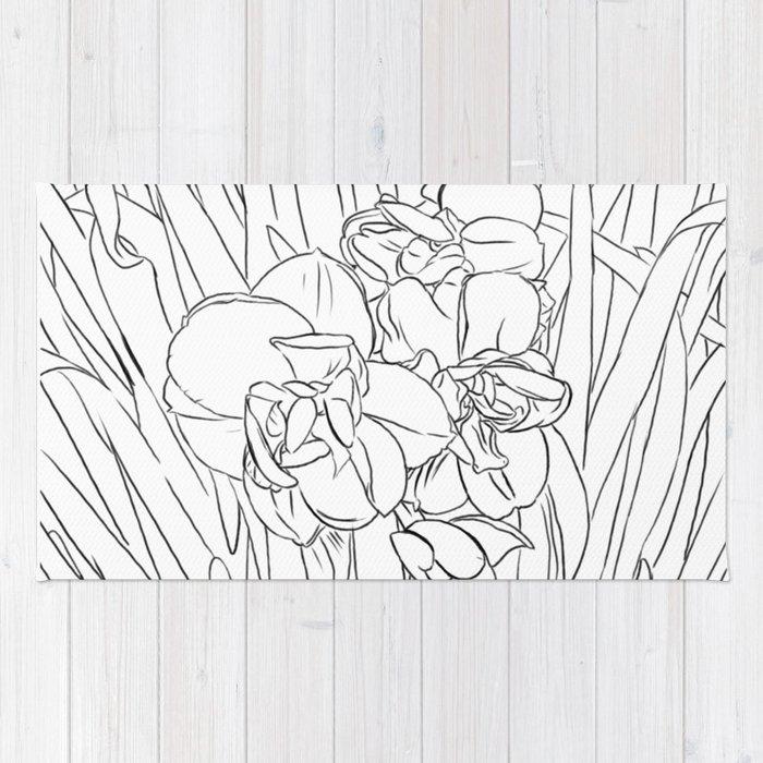 daffodil lines Rug