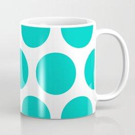Large Polka Dots: Aqua Blue Coffee Mug