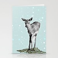 bambi Stationery Cards featuring Bambi by Monika Strigel