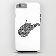 Typographic West Virginia Tough Case iPhone 6