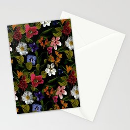 Moody Floral Garden Stationery Cards