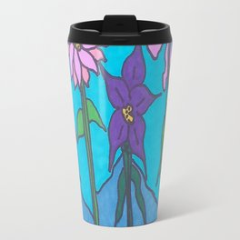 Blue Mountain Flowers Travel Mug