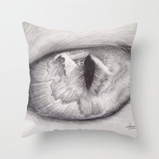 Cats Eye Throw Pillow