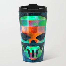 CHECKED DESIGN II - SKULL Metal Travel Mug