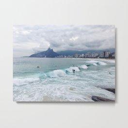 Rio Surf Metal Print