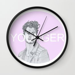 Younger #2 Wall Clock