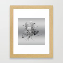 50 Shades of lace Silver Silver Framed Art Print
