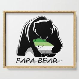 Papa Bear Aromantic Serving Tray