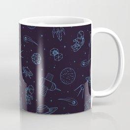 Blue Space Pattern Coffee Mug