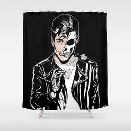 Alex Turner Skull Art by zombieCraig Shower Curtain