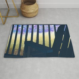 Adirondack Chairs Peace and Tranquillity  Rug