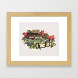 Jurassic Car Framed Art Print
