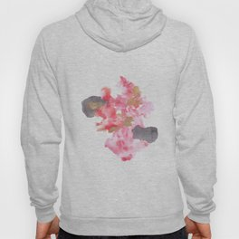 Watercolor Pink Black Flow | [dec-connect] 28. polarised Hoody